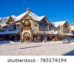 banff  alberta   dec 31  banff... | Shutterstock . vector #785174194