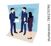 business meeting  people in... | Shutterstock . vector #785175790