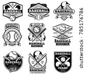 vintage sports logo design.... | Shutterstock . vector #785176786