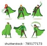 vector illustration in flat... | Shutterstock .eps vector #785177173