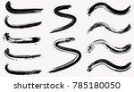 grunge curved dry brush strokes.... | Shutterstock .eps vector #785180050