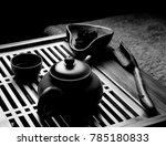 chinese black tea ceremony  | Shutterstock . vector #785180833
