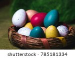 easter eggs in basket | Shutterstock . vector #785181334