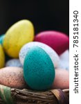 easter eggs in basket | Shutterstock . vector #785181340