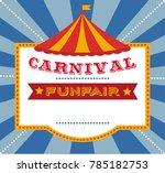carnival funfair background... | Shutterstock .eps vector #785182753