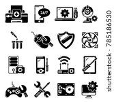 computer repair service icons... | Shutterstock .eps vector #785186530