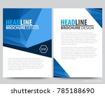 abstract vector modern flyers... | Shutterstock .eps vector #785188690