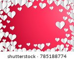 valentines day card with... | Shutterstock .eps vector #785188774