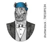 rhinoceros  rhino wild biker ... | Shutterstock . vector #785189134