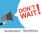 hand holding megaphone with... | Shutterstock .eps vector #785190514