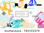 abstract universal art web... | Shutterstock .eps vector #785192374
