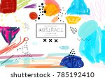 abstract universal art web... | Shutterstock .eps vector #785192410