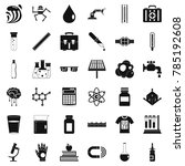 biology icons set. simple style ... | Shutterstock .eps vector #785192608