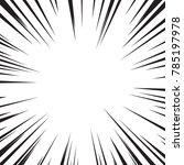 comic book speed lines.... | Shutterstock .eps vector #785197978