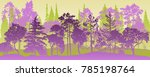 vector landscapes with pine and ... | Shutterstock .eps vector #785198764