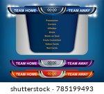 scoreboard broadcast graphic... | Shutterstock .eps vector #785199493