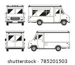 blank commercial food truck in...   Shutterstock . vector #785201503