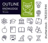 set of outline icons of... | Shutterstock .eps vector #785201944