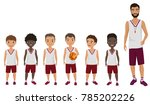 vector cartoon flat school boys ... | Shutterstock .eps vector #785202226