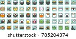 japanese food and beverage... | Shutterstock .eps vector #785204374