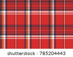 Red Plaid Fabric Texture Pixel...