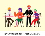 colaboration project team   Shutterstock .eps vector #785205193