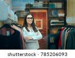 female boss entrepreneur small... | Shutterstock . vector #785206093
