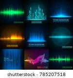 vector sound waves set. audio...