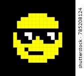 yellow popular cartoon face...   Shutterstock .eps vector #785208124