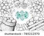 potato vector illustration. box ...   Shutterstock .eps vector #785212570