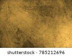 gold texture. scratched metal.  | Shutterstock . vector #785212696