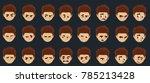 cartoon expressions set | Shutterstock .eps vector #785213428