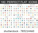 180 modern flat icons set of... | Shutterstock .eps vector #785214460