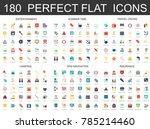 180 modern flat icons set of... | Shutterstock .eps vector #785214460