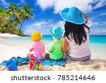 mother with twins on the...   Shutterstock . vector #785214646