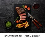 meat picanha steak  traditional ... | Shutterstock . vector #785215084