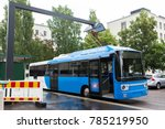 electric bus at a stop is... | Shutterstock . vector #785219950
