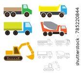 industrial transport  simple... | Shutterstock .eps vector #785220844