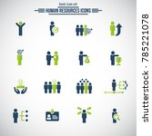 human resources icons.... | Shutterstock .eps vector #785221078