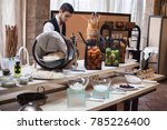 buffet in the restaurant | Shutterstock . vector #785226400