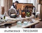 buffet in the restaurant | Shutterstock . vector #785226400
