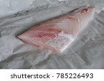 nile perch fillet on a white... | Shutterstock . vector #785226493