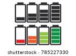 indicator of battery level... | Shutterstock .eps vector #785227330