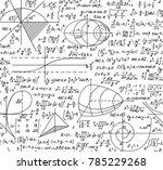 math vector seamless pattern... | Shutterstock .eps vector #785229268