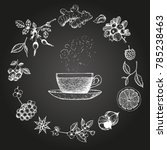 herbal tea vector illustration. ... | Shutterstock .eps vector #785238463