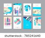 set of creative universal... | Shutterstock .eps vector #785241640