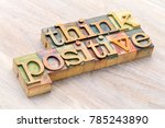 think positive   word abstract... | Shutterstock . vector #785243890