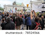 warsaw   may 27  protesters... | Shutterstock . vector #78524566