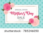 happy mother s day cute sale... | Shutterstock .eps vector #785246050