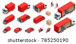 isometric logistics icons set... | Shutterstock .eps vector #785250190
